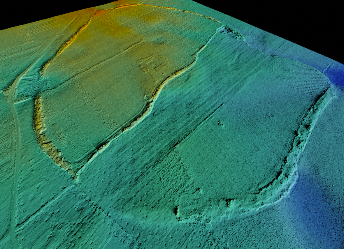 LiDAR data visualization of a protohistoric defensive circuit in Southern Italy using GIS and Blender