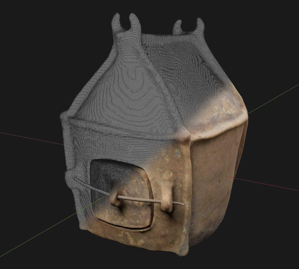 3D model of an Etruscan hut urn from the Allard Pierson