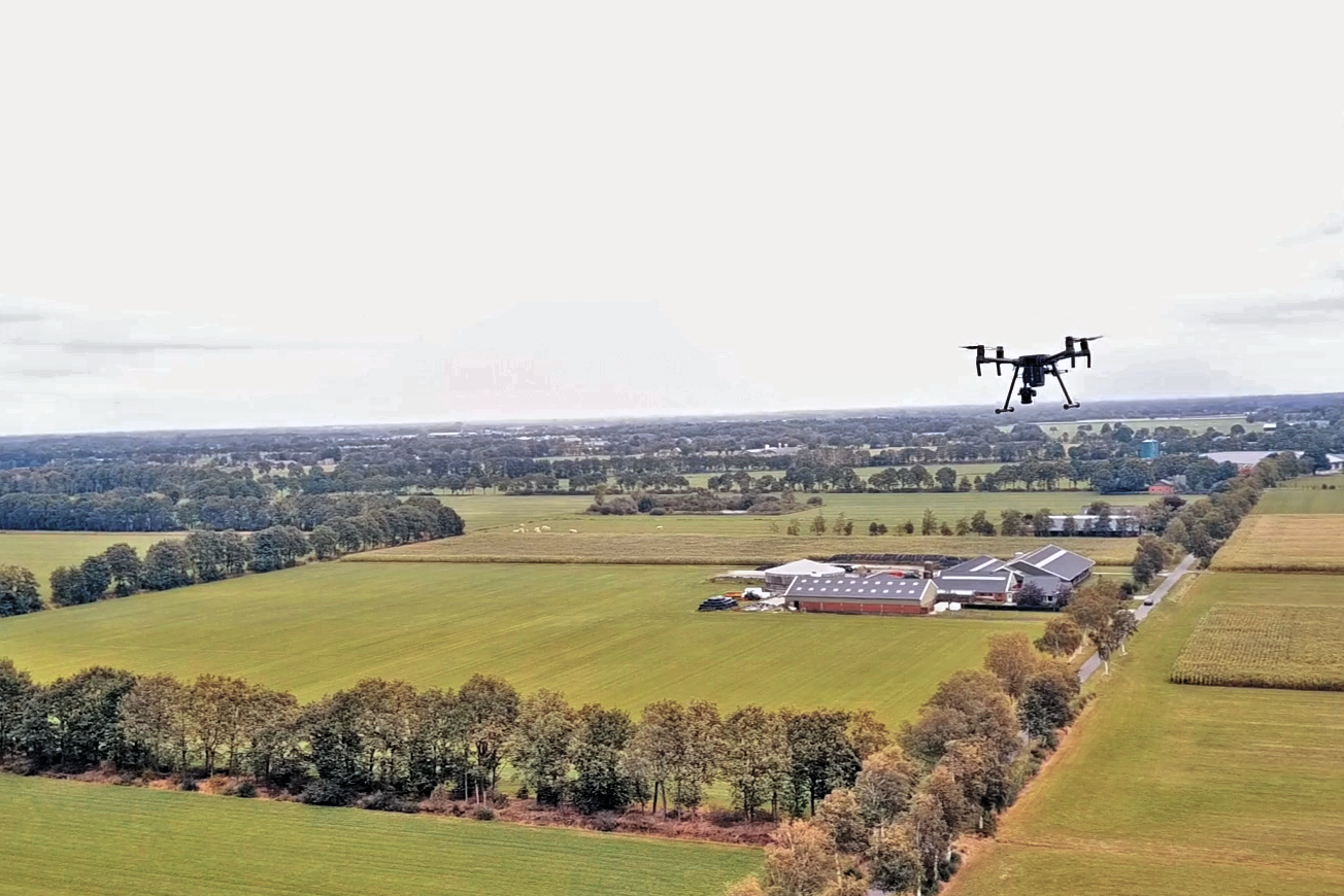 Drone operating at Siegerswoude (NL)