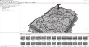 Photogrammetrical processing of the drone imagery into the 3D model of the sculpture.