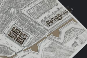 Reconstructed areas visualised on the historical Berckenrode map, ca. 1625.
