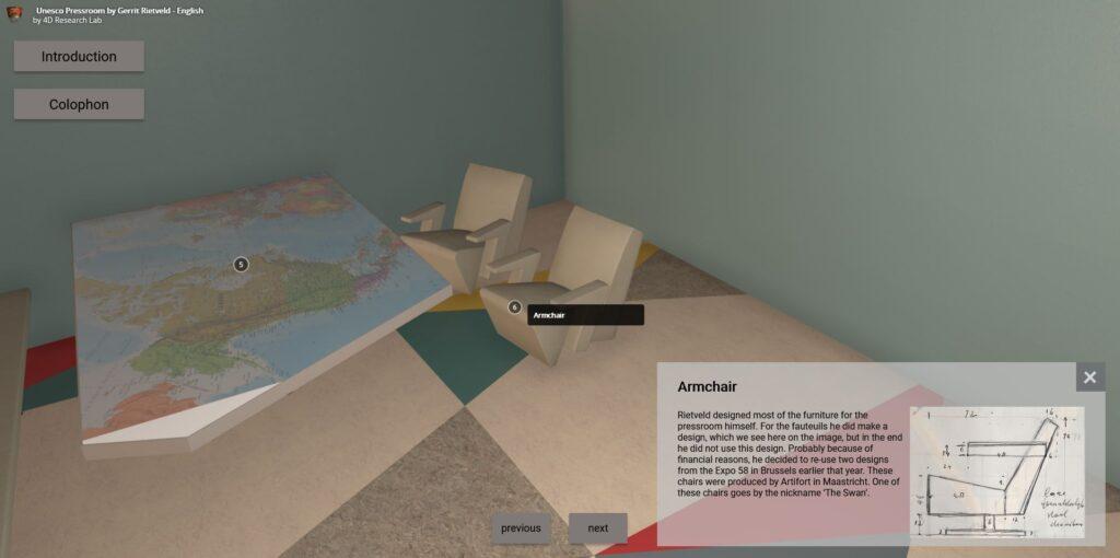 Screen capture of the virtual tour